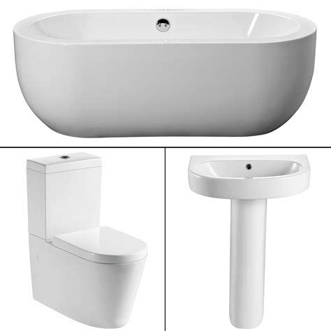 wc sink modern full freestanding bath suite toilet basin bathroom sink wc set bs154 ebay
