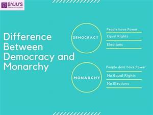 Difference Between Democracy And Monarchy  U0026 Their Comparisons