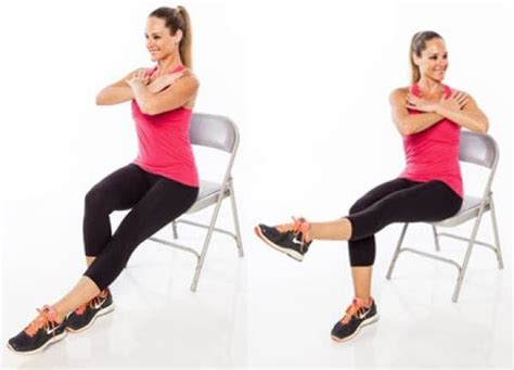 chair leg lifts at home 14 unique chair exercises for the whole