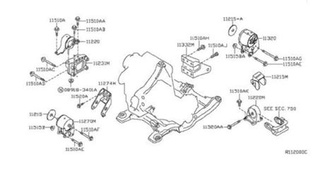 2002 Nissan Maxima Motor Diagram by A7342 Front Right Engine Motor Mount For 02 06 Nissan