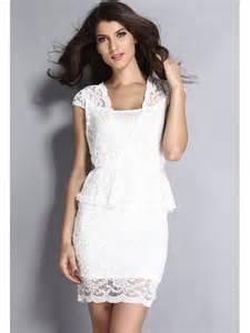 robe mariã e courte dentelle robes courte pas cher et fashion blanc look