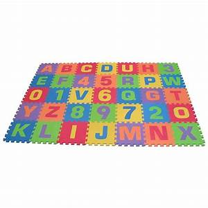 Amazoncom edushape edu tiles letters numbers play mat for Letter mat for babies
