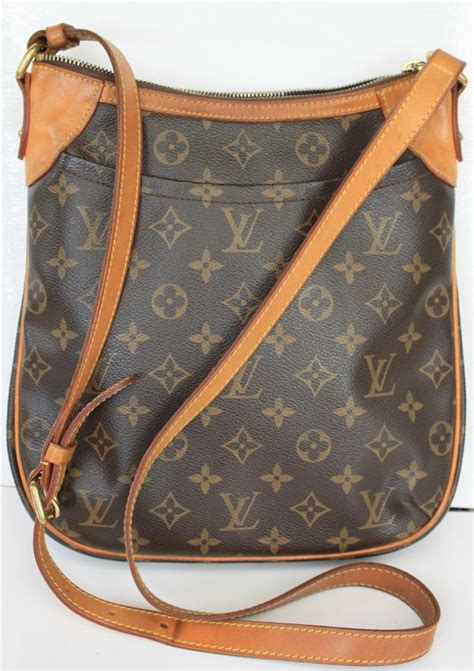 auth louis vuitton odeon pm monogram crossbodyshoulder