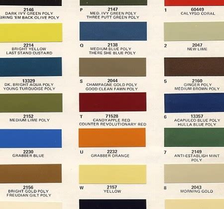 original paint colors for cars bring em back olive get it paint charts ford and auto paint