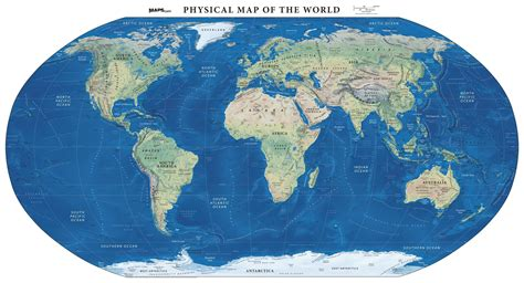 physical map   world land cover mapscom