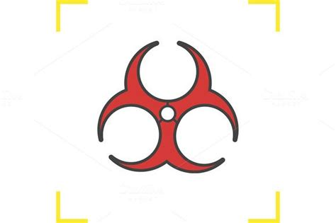 biohazard red icon vector  images icon