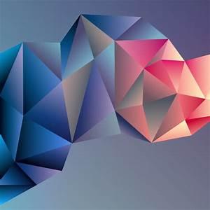 3D geometric shape art background vectors set 03 - Vector ...