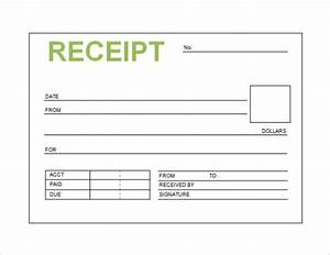 free receipt template word pdf doc printable calendar With e receipt template
