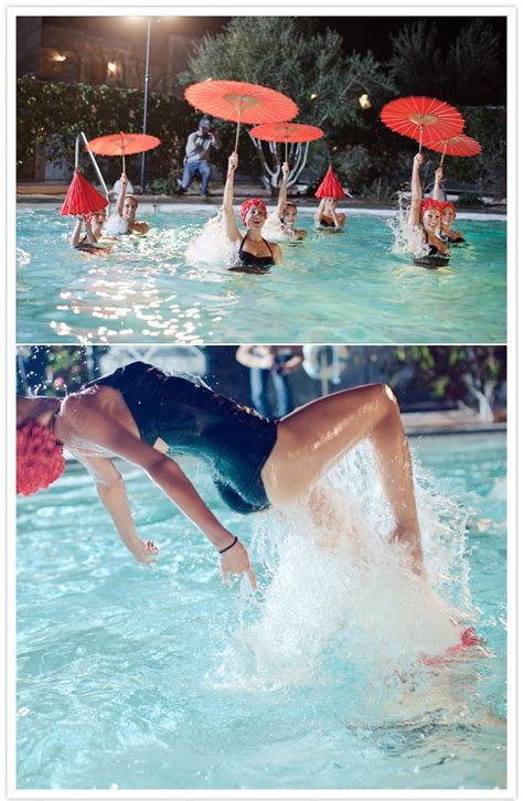 synchronized swimmers with parasols! | random bits of ...