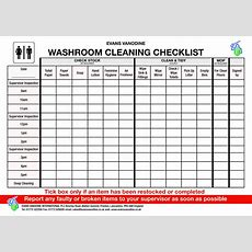 Free Bathroom Cleaning Checklist  Templates At