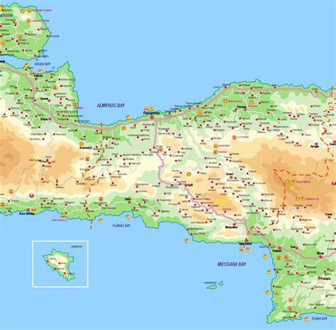 crete holiday villas maps  crete