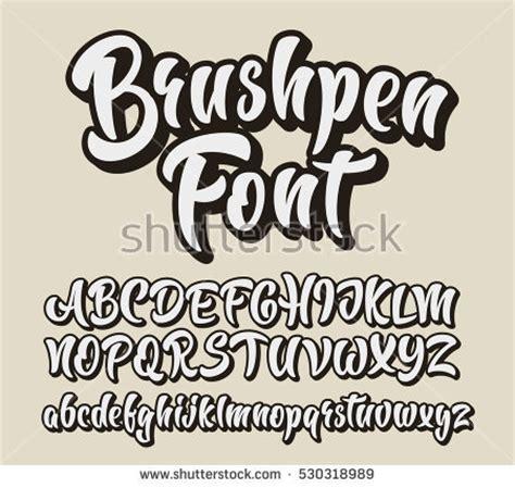 lettering fonts free brushpen comic lettering font vector alphabet stock vector 92962