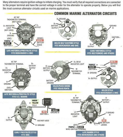 Motorola Marine Amp Alternator Connection Description