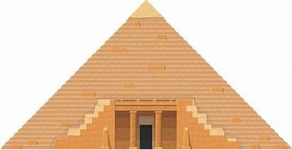 Pyramid Transparent Clipart Egyptian Triangle Roof Herbertrocha