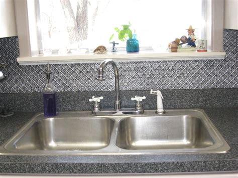 kitchen tin backsplash minimalist kitchen ideas with silver tin tile backsplash