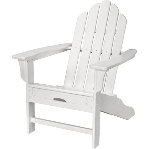 polywood classic white plastic adirondack chair add202wh