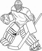 Coloring Hockey Pages Print sketch template