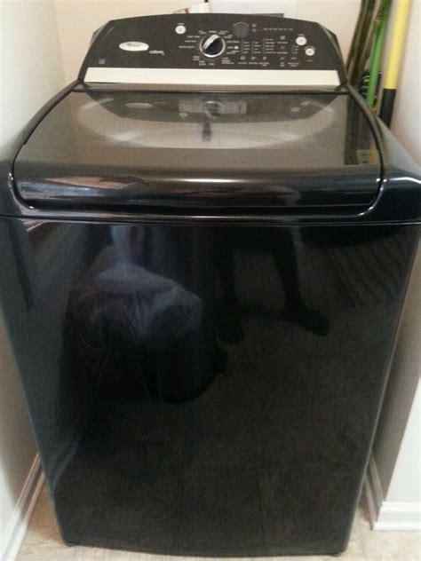 black washer and dryer whirlpool cabrio 27 inch top load washer black