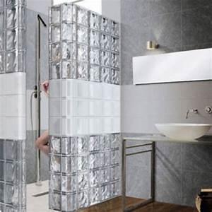 mur en brique de verre salle de bain With brique de verre salle de bain