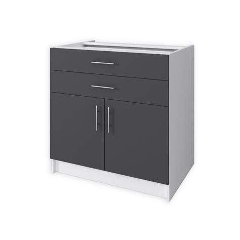 meuble de cuisine cdiscount obi meuble bas de cuisine 80 cm gris mat achat vente
