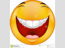 Cartoon Laughing smiley stock vector Illustration of