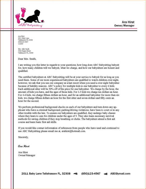 examples  letterheads  business letters scrumps