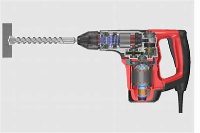 Hammer Drill Rotary Mechanical Between Principle Impact
