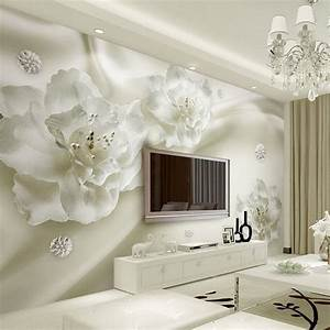 Custom Any Size 3D Wall Murals Wallpaper Silk Flower ...