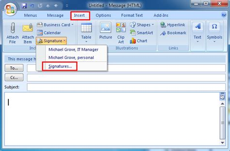 Office 365 Outlook How To Add Signature by Where Is Signature Stored In Outlook 2007 2010 2013