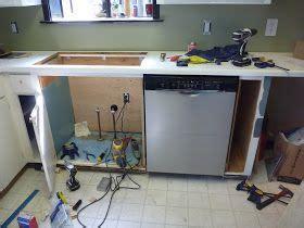 stupid house installing  full size dishwasher