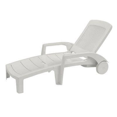 chaise longue en plastique blanc bain de soleil en résine fidji blanc castorama