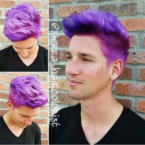 Men Can Wear Purple Too Purple Hair Color Design By