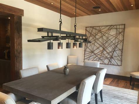 Led Lights In Dining Room by Studio Notes Steve Lopes Blacksmith