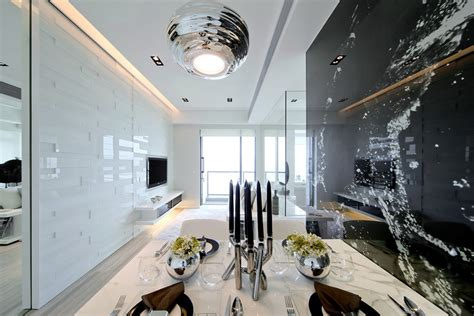 Black & White Dynamic Interior Designkindled Water
