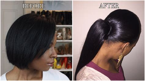 Sleek Ponytail On Short Natural Hair