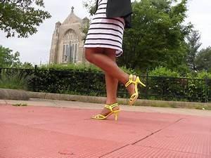 Neon Strappy Sandals