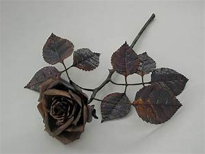 copper rose by knivesandroses on deviantart With forged rose template