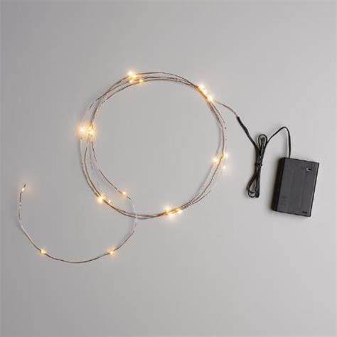 micro led lights battery powered copper micro led 25 bulb battery operated string lights
