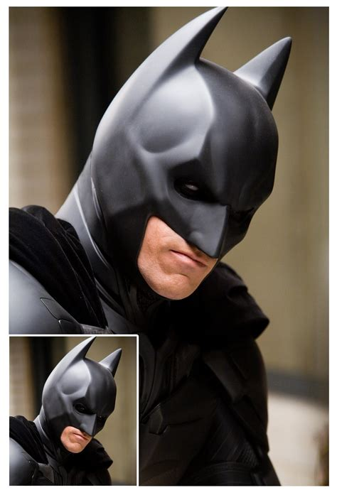 dark knight bat cowl    design choices  bothered    decided