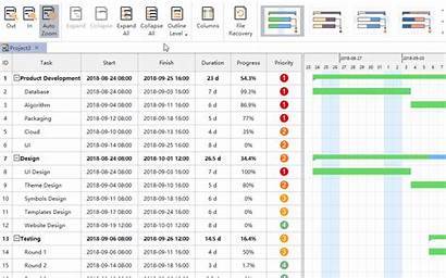 Gantt Chart Construction Project Reports Templates Icon