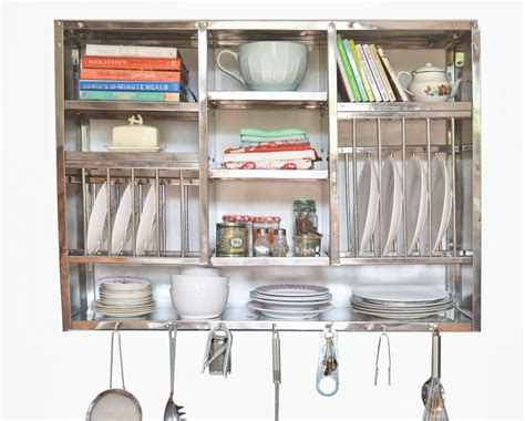 kitchen wall organizer stainless steel stainless steel kitchen plate rack wall hanging 8706