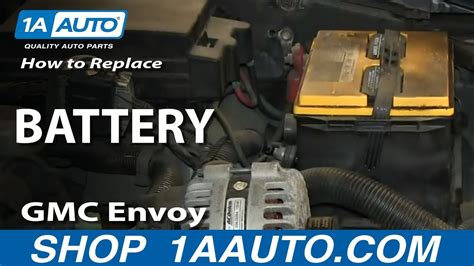 install replace dead battery   gmc envoy