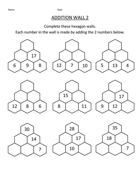 year 2 math worksheets addition learning printable