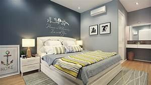 Grau Blau Wandfarbe : 30 inspirierende schlafzimmer beispiele in neutralen farben ~ Indierocktalk.com Haus und Dekorationen