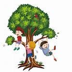Climbing Tree Clipart Climb Boys Clip Vector
