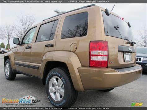 beige jeep liberty 2012 jeep liberty sport canyon brown pearl pastel pebble