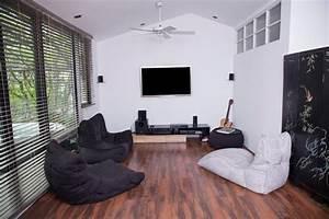 Converted Loft Entertainment Room - Contemporary - Home