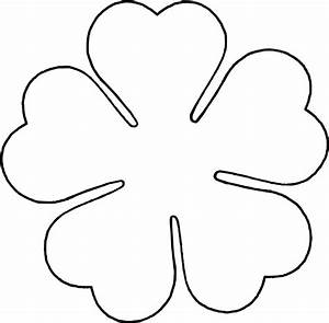 flower love five petal template by baj a flower template With flower template 5 petals