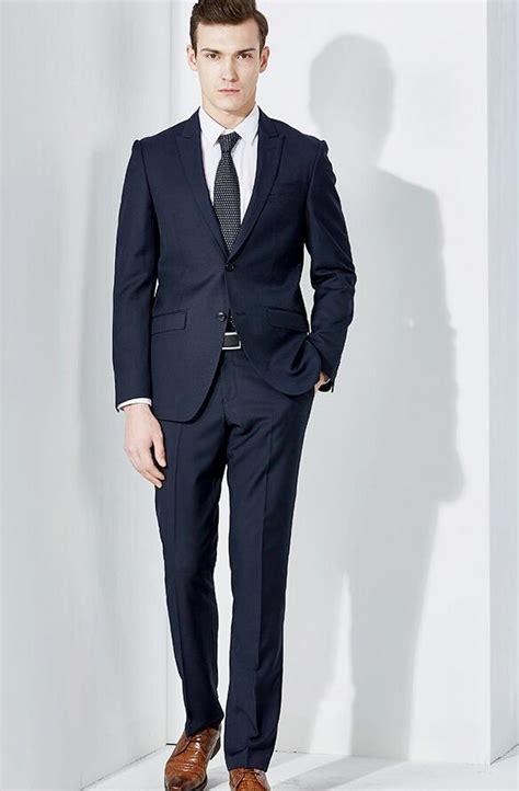 formal blue suit suit la
