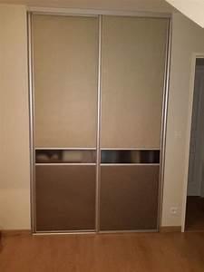 Fabriquer Sa Porte Coulissante Sur Mesure : fabriquer ses portes de placard coulissantes en m lamin ~ Premium-room.com Idées de Décoration